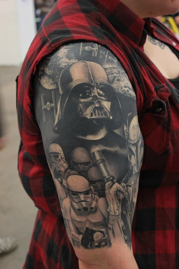 star wars tattoos awesome sleeve tattoo pics ideas fav images amazing pictures. Black Bedroom Furniture Sets. Home Design Ideas