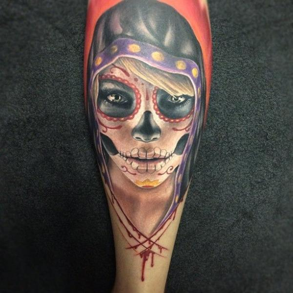 Sugar skull tattoos pretty design fav images amazing for Pretty skull tattoos
