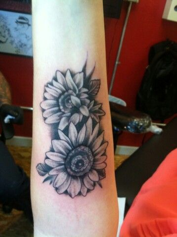 sunflower tattoo images black and white fav images