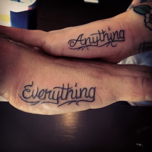 Tattoos For Couples, Lettering, Cute, Ideas, Hand
