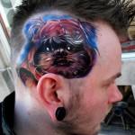 worst tattoos ever, head, paint, art, man