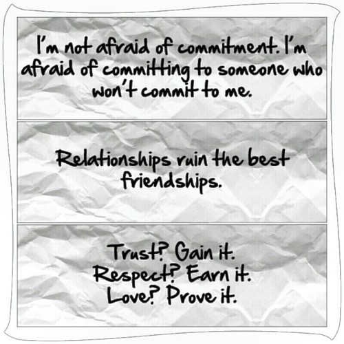Scared Of Commitment Quotes: Commitment Quotes, Wise, Deep, Sayings, Relationships