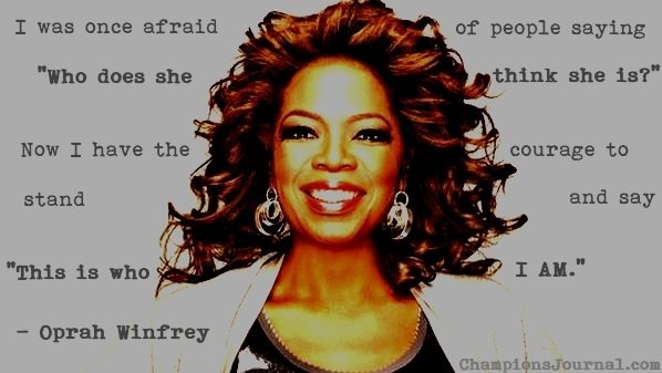 self confidence quotes, best, wise, sayings, oprah winfrey