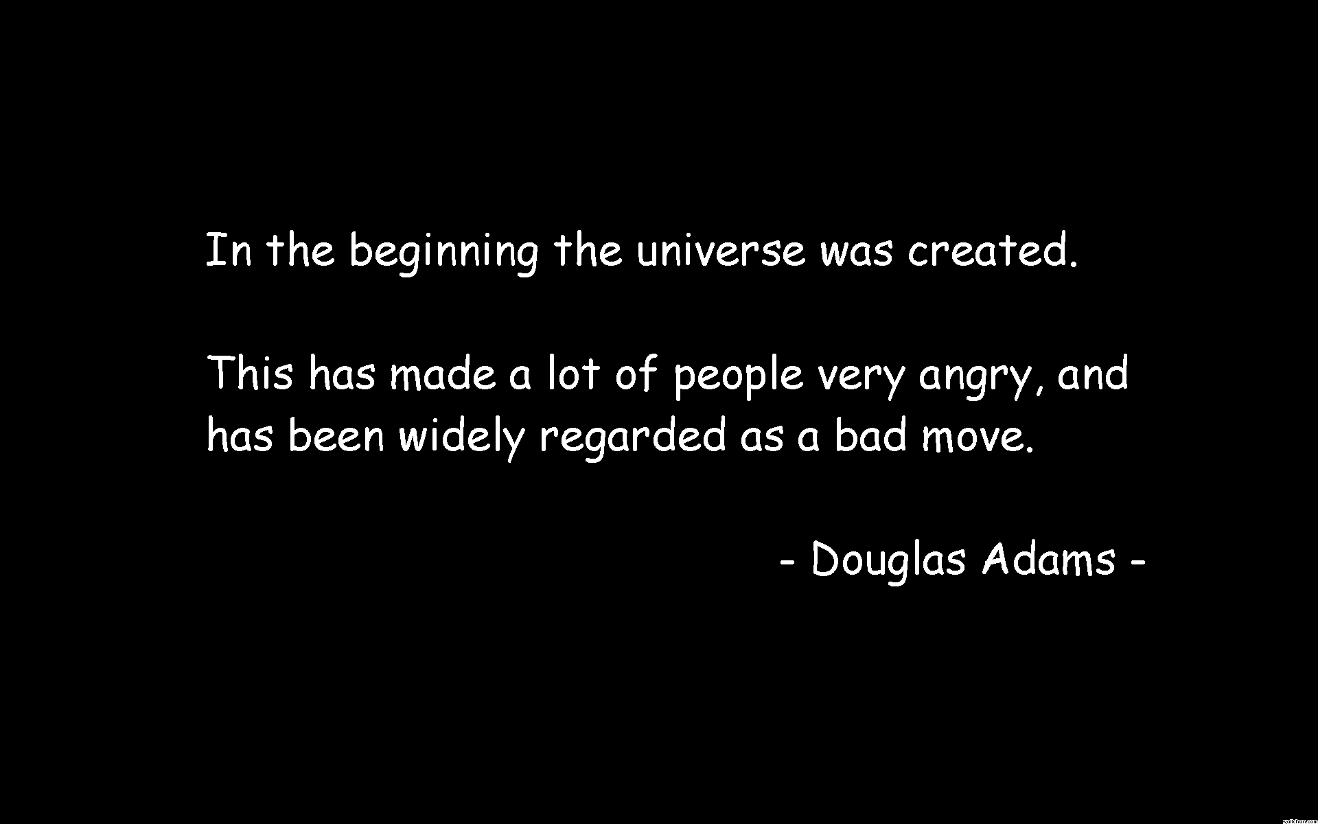 Douglas Adams Quotes and Sayings, meaningful