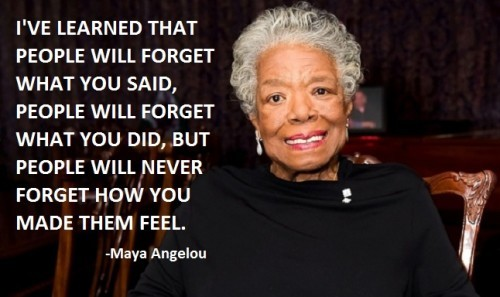 Maya Angelou Famous Quotes and Sayings, feelings
