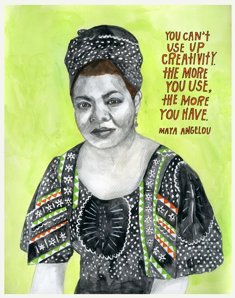 Maya Angelou Life Sayings and Quotes, brainy