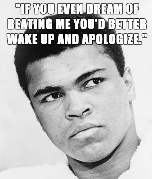 Muhammad Ali Quotes, sayings, apologize