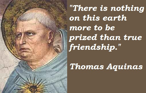 Thomas Aquinas Quotes and Sayings, friendship, best