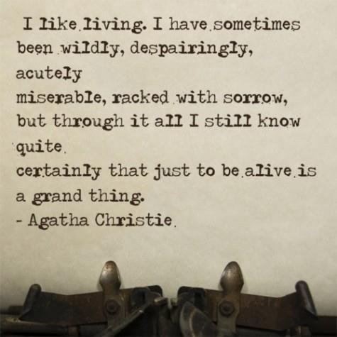 daily positive quotes, best, cool, sayings, agatha christie