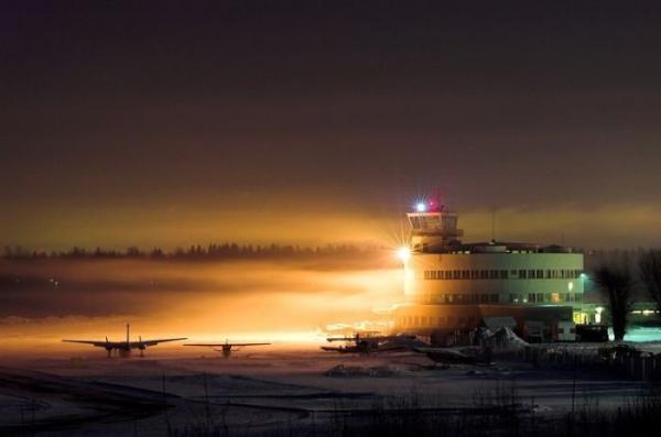runways, beautiful, view, runway, night