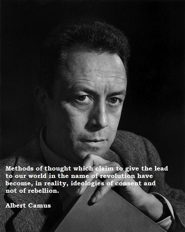 Albert Camus Quotes and Sayings, wisdom, brainy