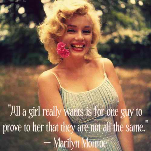 Brainy Marilyn Monroe Quotes and Sayings, about girls, cute
