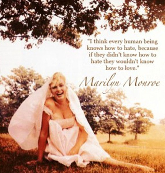 Brainy Marilyn Monroe Quotes and Sayings, human, love