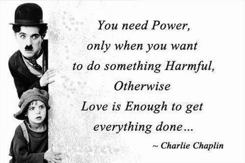 Charlie Chaplin Quotes and Sayings, power, smile
