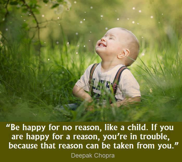 Deepak Chopra Quotes and Sayings, be happy, cute