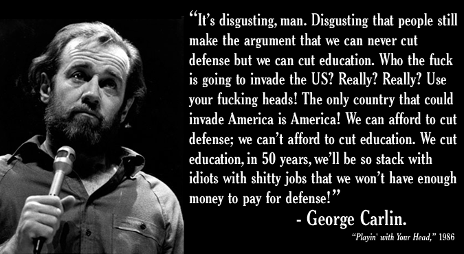 George Carlin Quotes and Sayings, best, wise