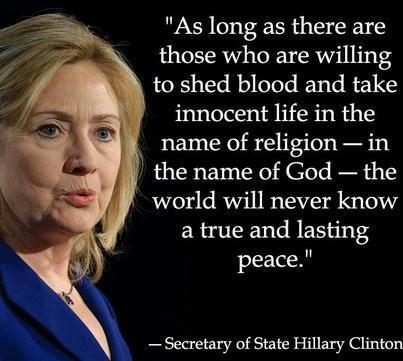 Hillary Clinton Quotes and Sayings, brainy, peace