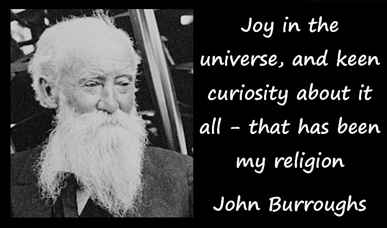 John Burroughs Quotes and Sayings, joy, religion