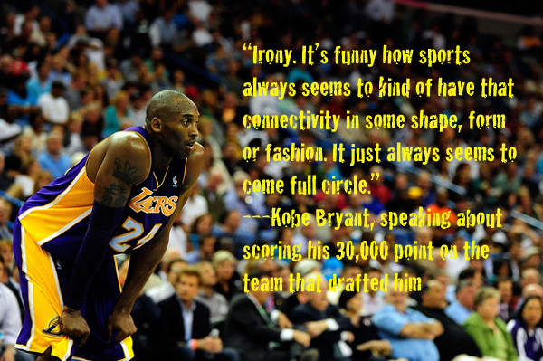 Kobe Bryant Quotes and Sayings, irony, best, wise