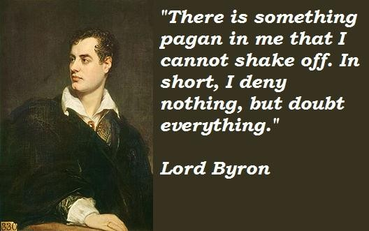 Lord Byron Quotes and Sayings, meaningful, deep