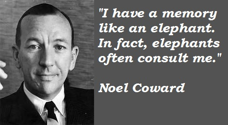 Noel Coward Quotes and Sayings, memory