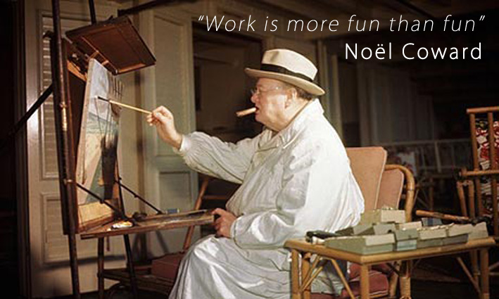 Noel Coward Quotes and Sayings, work, fun