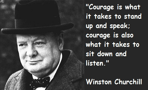 Winston Churchill Quotes and Sayings, courage, deep