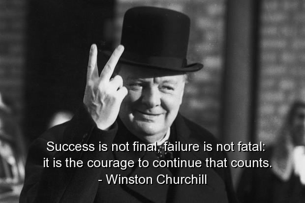 Winston Churchill Quotes and Sayings, success, meaningful