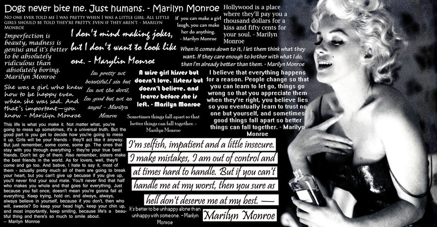 Wise Marilyn Monroe Quotes and Sayings, long, meaningful