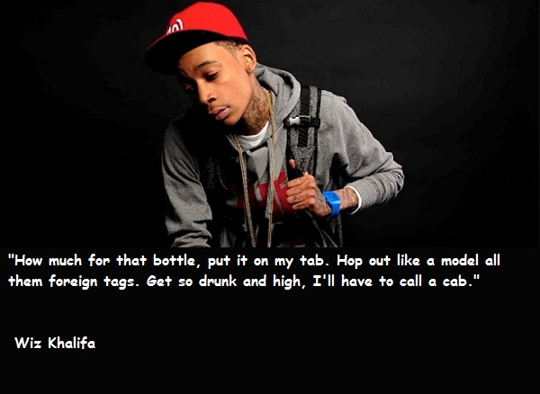 Wiz Khalifa Quotes and Sayings, meaningful, deep