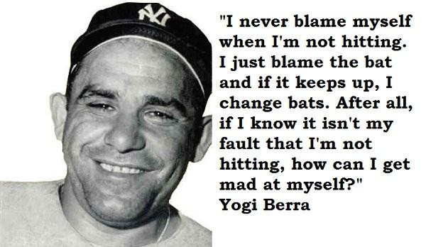 Yogi Berra Quotes and Sayings, meaningful, deep
