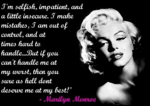 Meaningful quotes marilyn monroe