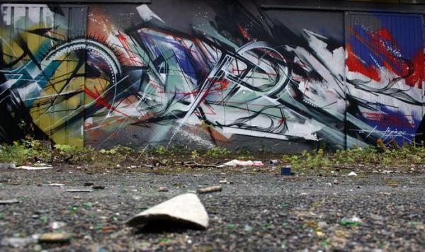 Street artist Hopare, art, photoshoot