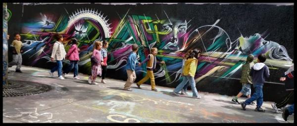 Street artist Hopare, art, pics