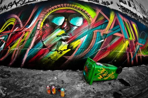 Street artist Hopare, art, picture