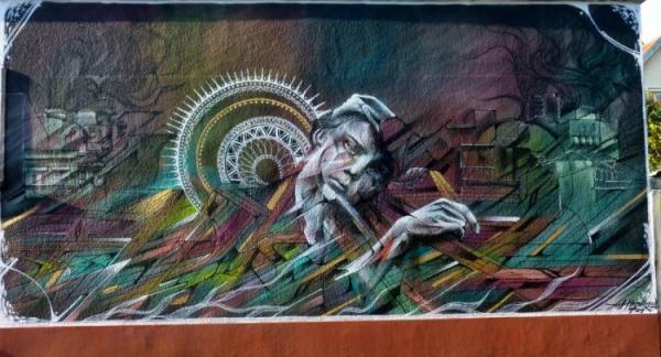 Street artist Hopare, art
