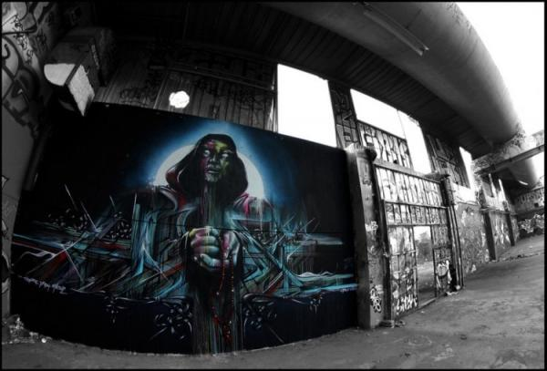 Street artist Hopare, photography