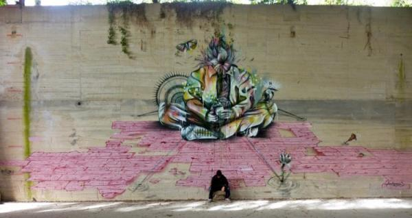 Street artist Hopare, pics