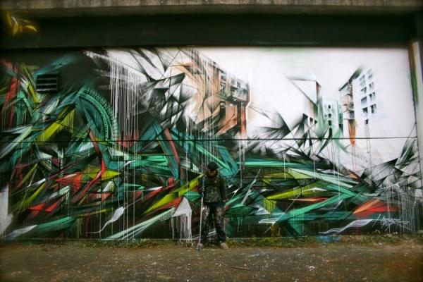 Street artist Hopare, picture