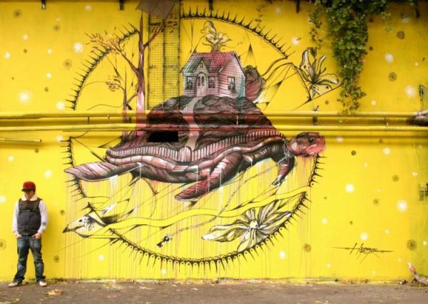 Street artist Hopare