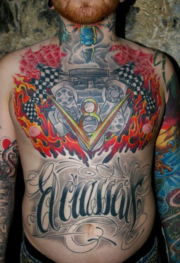 car tattoos, color, 3d, design, idea, body, photoshoot