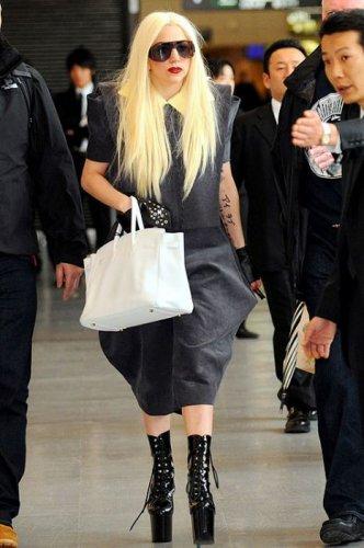Extravagant costumes of Lady Gaga, singer, photoshoot