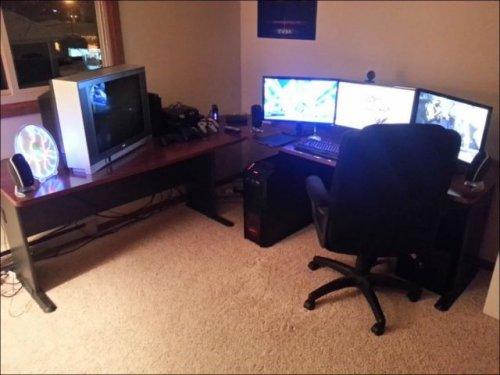 Funny playrooms, interior, room, computer