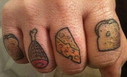 Gastro tattoos, food, design, idea, color, photo