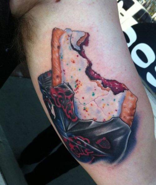 Gastro tattoos, food, design, idea, photoshoot