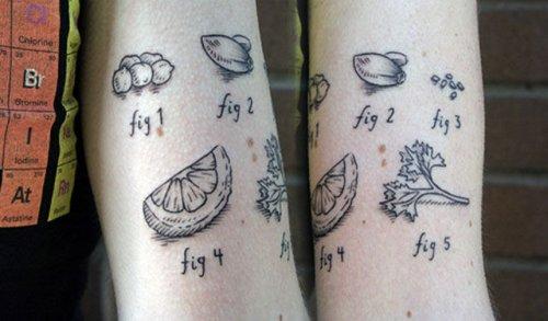 Gastro tattoos, food, design, idea, tattoo, photoshoot