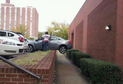 Ladies behind the wheel, driving cars, parking