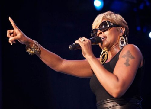 Mary J. Blige, singer, tattoos