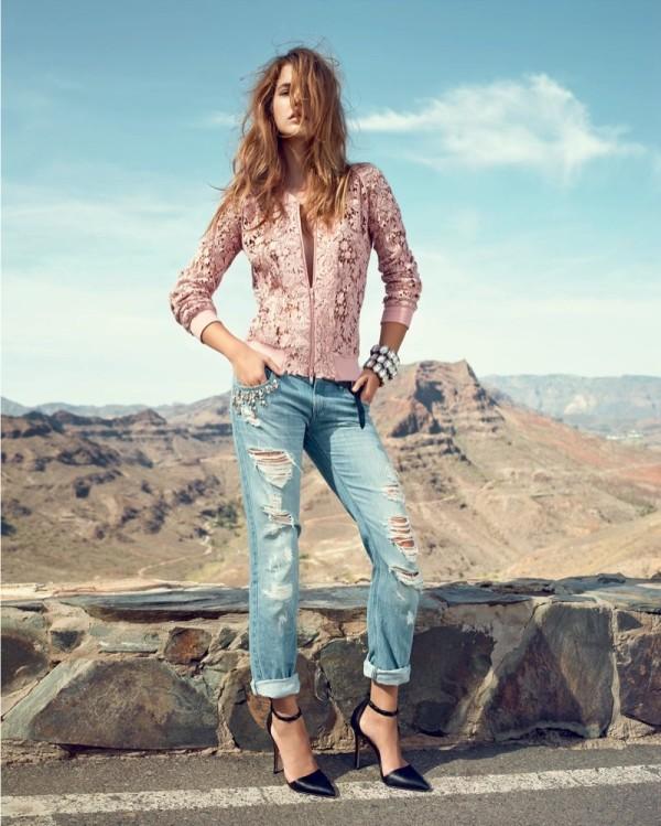 Barbara Palvin, celebrity, fashion, denim, outfit, photography