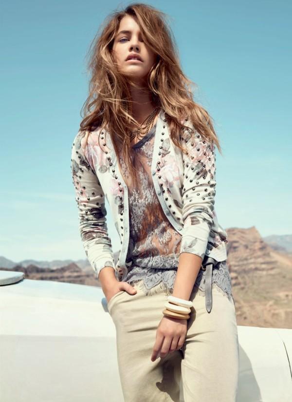 Barbara Palvin, celebrity, fashion, denim, outfit, photoshoot